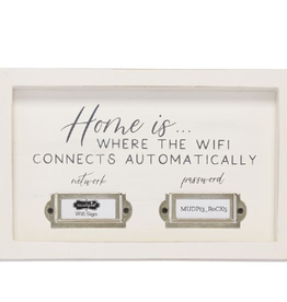 MUDPIE Plaque-Home is where the WIFI Connects