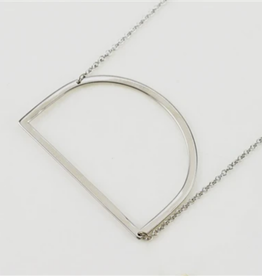D Sideways Initial Necklace