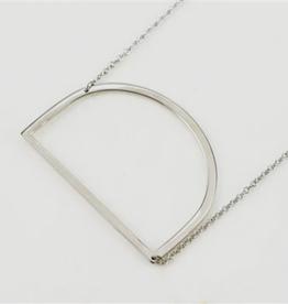 D Sideways Initial Necklace
