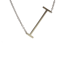 I Sideways Initial Necklace
