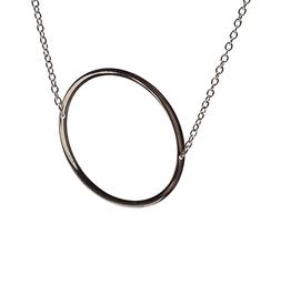 O Sideways Initial Necklace