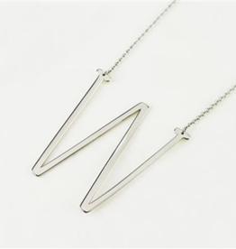 W Sideways Initial Necklace