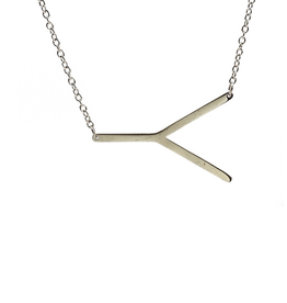 Y Sideways Initial Necklace