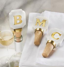MUDPIE Wine Topper Gold Initial