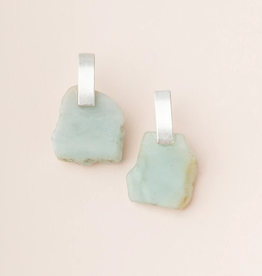 SCOUT CURATED WEARS STONE SLICE EARRINGS AMAZONITE/SILVER