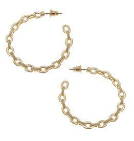 CANVAS TRISH HOOP EARRINGS GOLD