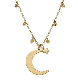 CANVAS JULIETTE MOON NECKLACE GOLD