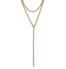 CANVAS PILAR LAYERED CHAIN Y NECKLACE GOLD