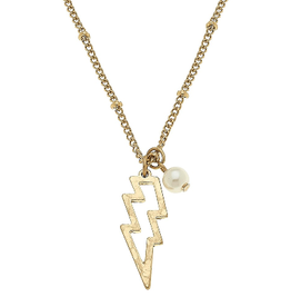 CANVAS THUNDERBOLT NECKLACE GOLD