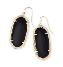 KENDRA SCOTT Earring Elle Gold Black