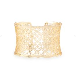 KENDRA SCOTT Candice Bracelet Gold Filigree Metal