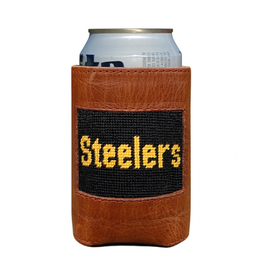 SMATHERS & BRANSON Can Cooler-Pittsburgh Steelers Needlepoint