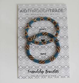 AID THROUGH TRADE Roll-On Friendship Bracelets Blue