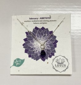 LOTUS JEWELRY STUDIO Birthstone Necklace Wildflower Card