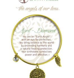 THOUGHTFUL ANGELS Birthston Bracelet April