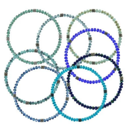 CJ BELLA CO Stackin' Stones Single Bracelet- Blue Tone