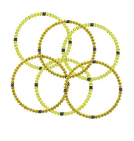 CJ BELLA CO Stackin' Stones Bracelet Yellow Tones