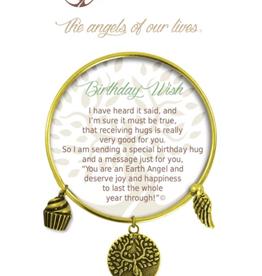 THOUGHTFUL ANGELS Charm Bracelet Birthday Wishes