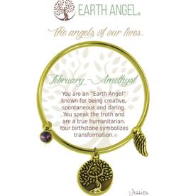 THOUGHTFUL ANGELS Birthstone Bracelet February