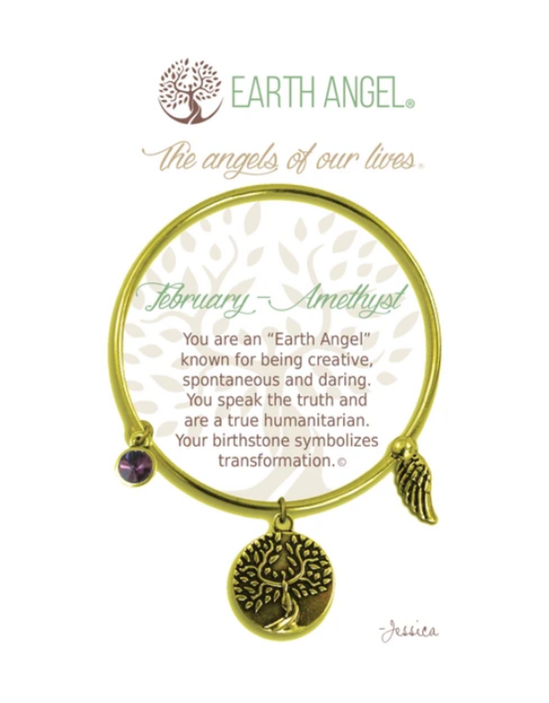 THOUGHTFUL ANGELS Birthstone Bracelet February