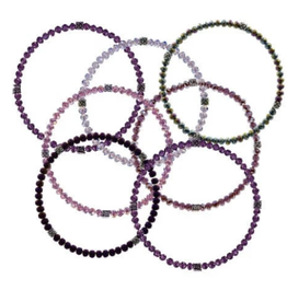 CJ BELLA CO Stackin' Stones Bracelet- Purple Tones
