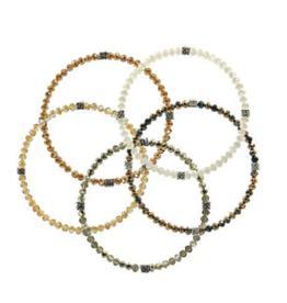 CJ BELLA CO Stackin' Stones Bracelet Amber Tones