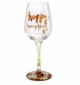 GAELTAG KELTIKA Happy Everything Wine Glass