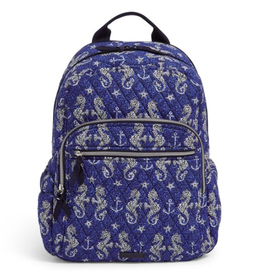 VERA BRADLEY Iconic Campus Backpack Seahorse of Course
