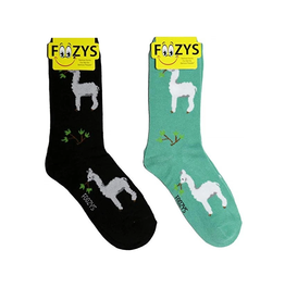 FOOZY'S Unisex Crew Socks Alpacas
