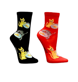 FOOZY'S Cat & Fish Bowl Socks