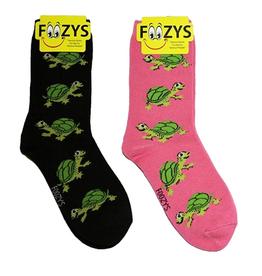 FOOZY'S Unisex Crew Socks Turtles