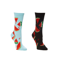 FOOZY'S Unisex Crew Socks Watermelon