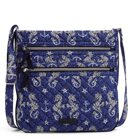 VERA BRADLEY Iconic Triple Zip Hipster Seahorse of Course