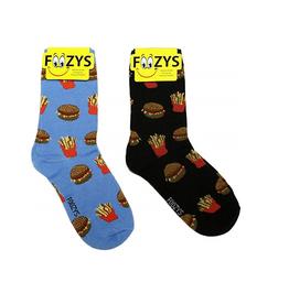FOOZY'S Unisex Crew Socks Hamburger & Fries