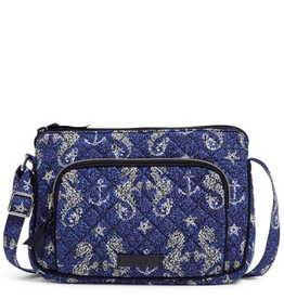 VERA BRADLEY Iconic RFID Little Hipster Seahorse of Course