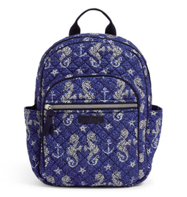VERA BRADLEY Iconic Small Backpack Seahorse of Course