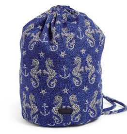 VERA BRADLEY Iconic Ditty Bag Seahorse of Course