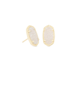 KENDRA SCOTT Ellie Earring Gold Iridescent Drusy