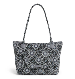 VERA BRADLEY Carson East West Tote Charcoal Medallion