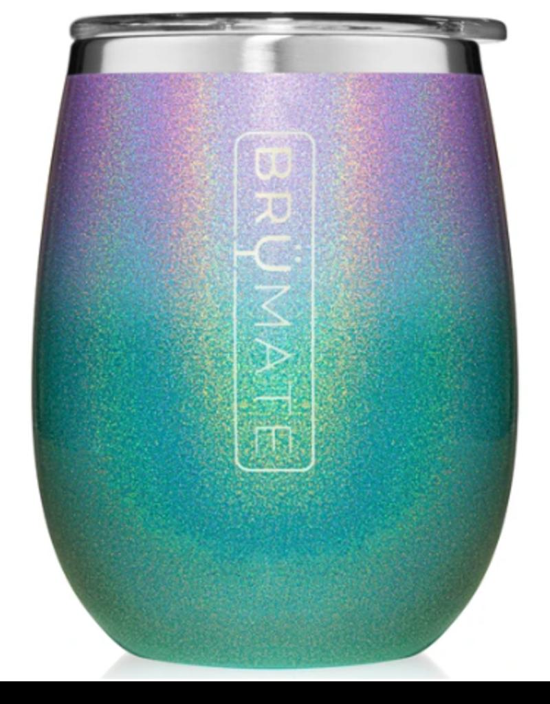 14 oz UNKORK'D Wine Tumbler Glitter Mermaid Ombre
