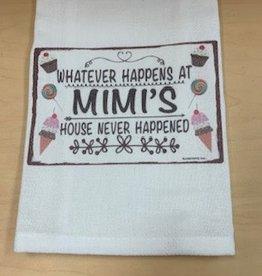 JAZZY ARTZ Kitchen Towel- Whatever Happens At Mimi's Never Happened