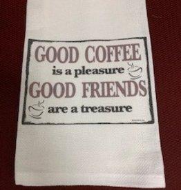 JAZZY ARTZ Kitchen Towel-Good Coffee is a Pleasure