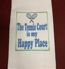 JAZZY ARTZ Kitchen Towel-The Tennis Court is my Happy Place