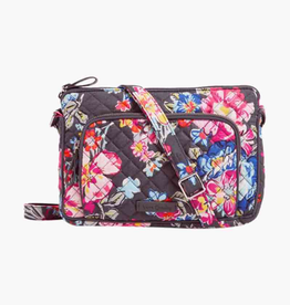 VERA BRADLEY 22159 Iconic RFID Little Hipster Pretty Posies