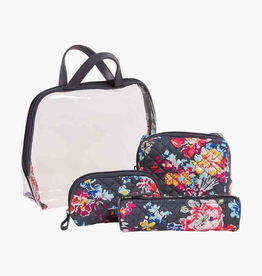 VERA BRADLEY 22512 Iconic 4 Pc. Cosmetic Set Pretty Posies