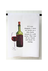 SOUTHERN SISTERS HOME Flour Sack Towel Picture on Wine Bottle