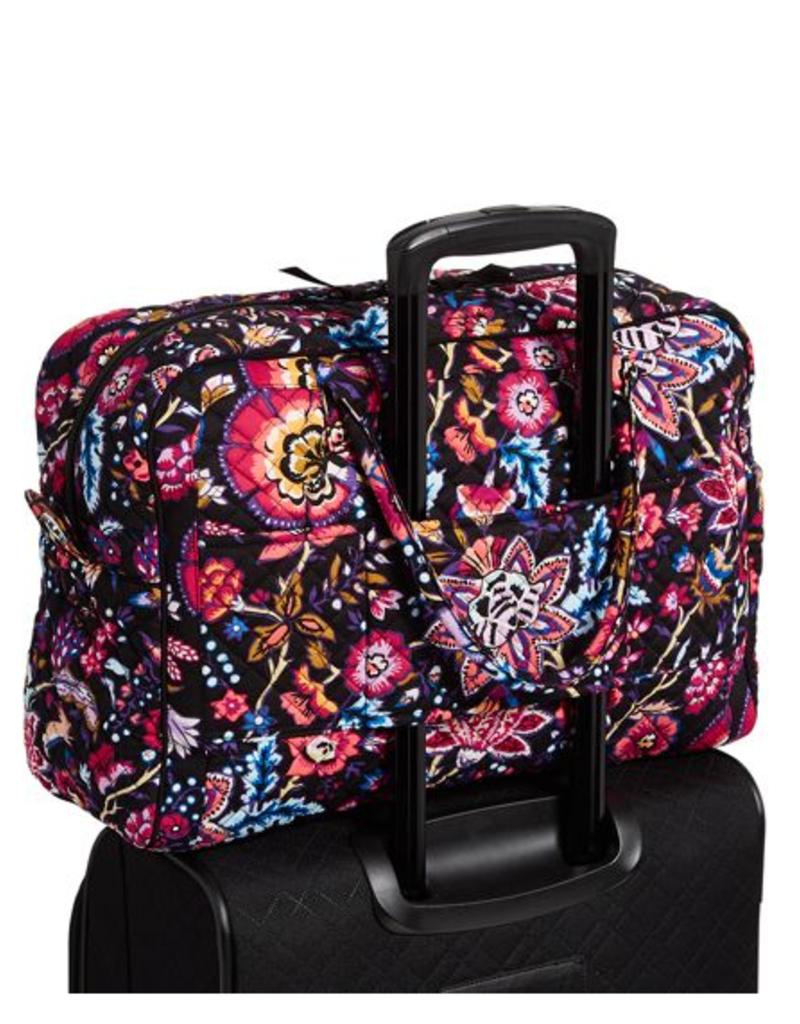 VERA BRADLEY Iconic Weekender Travel Bag Foxwood