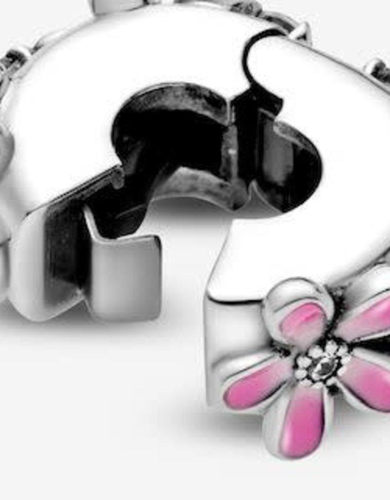 PANDORA Pink Daisy Flower Clip Charm