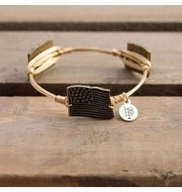 BOURBON AND BOWETIES Gold Bangle AMERICAN FLAG