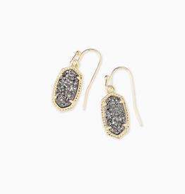 KENDRA SCOTT Earring Lee Gold Drop Platinum Drusy